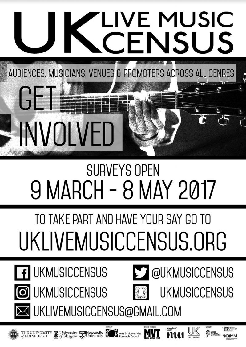 Get involved with the UK Live Music Census